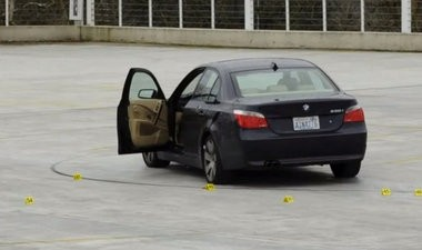 Portland police released this photo of Santiago Cisneros III's BMW at the scene of the shootout on March 4.