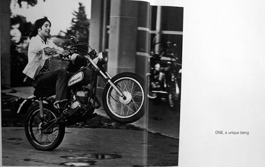 "A photograph of Steven Plog doing a wheelie outside Wilson High School appeared in the school's yearbook in 1972. The photo's caption read, ""A unique being."""