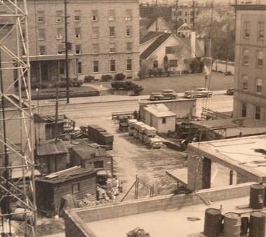 Legacy Emanuel Medical Center razed its original building in 1952.