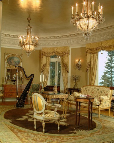 The music room at the Pittock Mansion offers a glimpse into the opulence on display in the century old home.