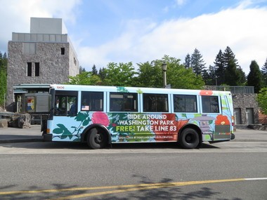 The Washington Park shuttle runs every 20 minutes and will run seven days a week from Memorial Day to Labor Day (Courtesy of Lamar Advertising)