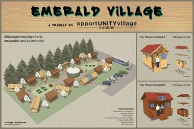 A concept plan showing what Emerald Village could look like in Eugene once completed (Courtesy of Andrew Heben)