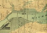 This old map shows how far the flood extended.