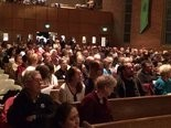 Hundreds packed Augustana Lutheran Church on Tuesday for an interfaith service in support of Francisco Aguirre.