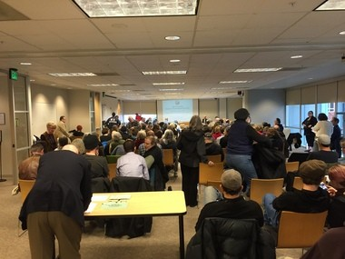 The Portland Historic Landmarks Commission held a standing room only meeting on Monday to determine the fate of the famous reservoir's service in the drinking water system.