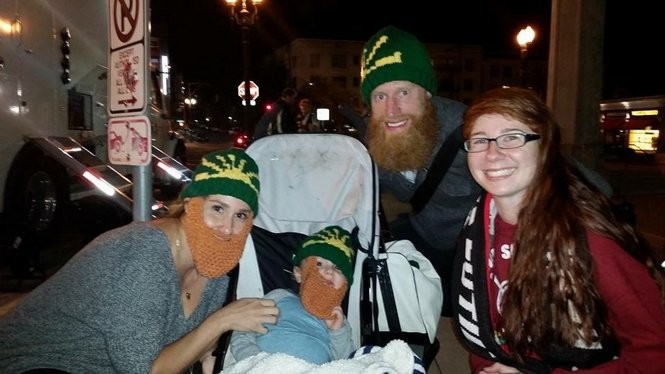 Lyndsea Moore with Nat Borchers and family.