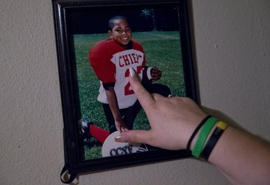 """""""Football was our way of getting him to relieve the tension,"""" said Natasha Bruce. """"He was fine in football, but football is only four months a year. You still have to do the other eight months."""" BETH NAKAMURA/THE OREGONIAN/OREGONLIVE"""