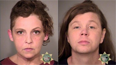 Tara Parrish, left, Lucy Elizabeth Smith and a 14-year-oldboy were also arrested in the protests.