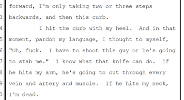 Officer Samuel Ajir's testimony to a Multnomah County grand jury. NOTE: Graphic language in excerpt.