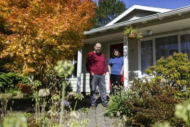 When Cristofer Hernandez (red sweater) looked for a new home for himself, his wife Mandy Ancira Hernandez (not pictured) and son Amorius Ancira (blue shirt), they found what they were looking for at a price they could afford in Gresham. Between 2010 and 2015, there was an 11 percent increase in Latino-owned homes in the tri-county area. Sky-high prices close to downtown Portland meant nost of those homes were outside the Portland city limits.