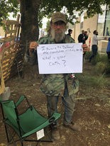 "Bob, 51, who prefers to only be identified by his first name, spent that past week camped out with other occupiers. ""I swore to defend this Constitution against foreign and domestic terrorists,"" says Bob, who said he served in the Army during Desert Storm."