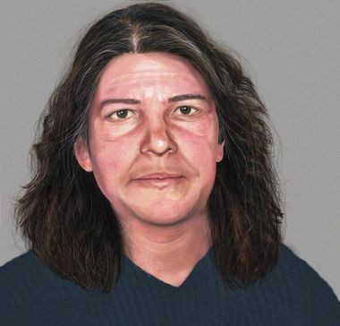 An age-progressed photo of Josephine Sunshine Overaker released by the FBI.