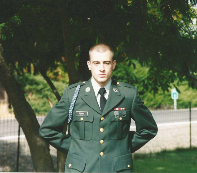 Bryan Perry, 31, had served in the U.S. Army during Operation Iraqi Freedom. He was honorably discharged and received a Purple Heart, his lawyer said.
