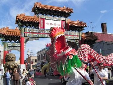 A dragon dance takes place at the annual Under the Autumn Moon Festival in Northwest Portland's Chinatown.