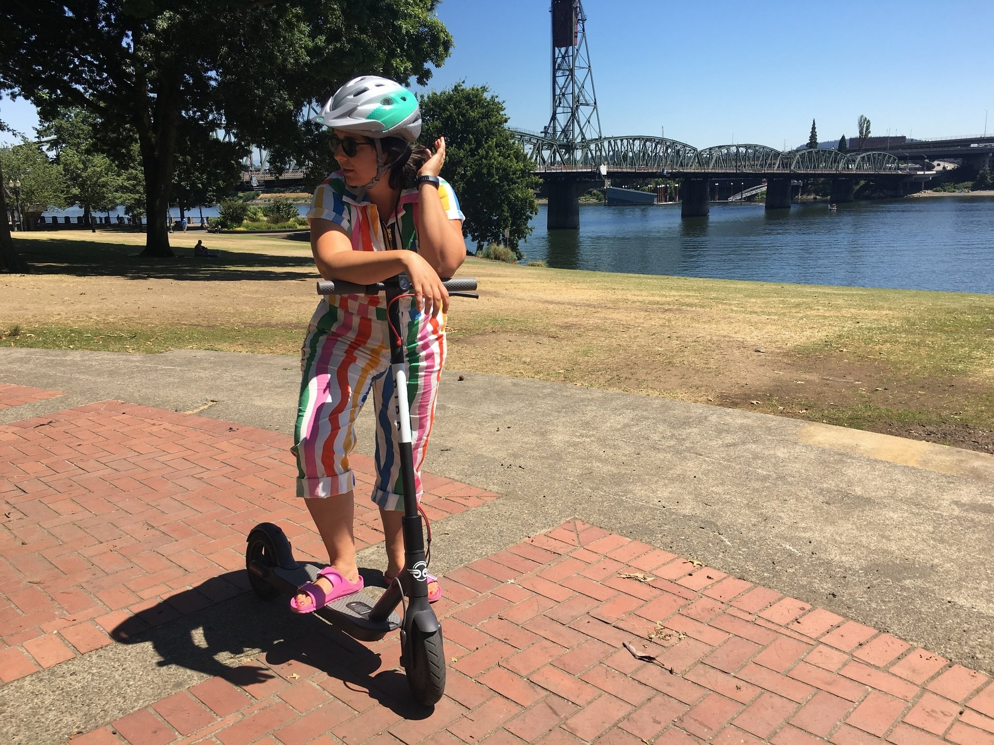 I took an electric scooter on a 12 5-mile journey through