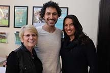 (Left to right) Gayle Schnitzer Romain, Ethan Zohn and Laura Rosencrantz, founder of Inpower Cancer Exercise Program.