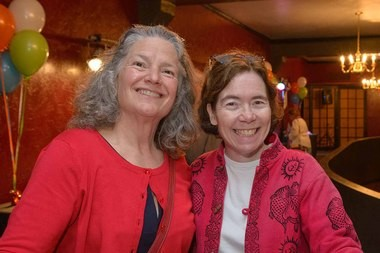 (Left to Right) Carla Piluso, Human Solutions board president; and Mary Nolan, former State Representative and vice president of business and community development at FamilyCare Health Plans.