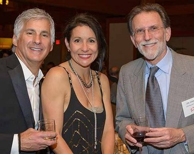 (Left to Right) Brad Tonkin, Michelle Poli and Jim Winkler, capital campaign chairman