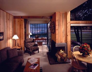 The lodge cabins at Black Butte Ranch.