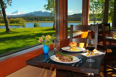 When dining at Black Butte's award-winning Lodge Restaurant one couldn't ask for a more beautiful view.