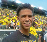 Tyler Dorsey on his September visit to the University of Oregon