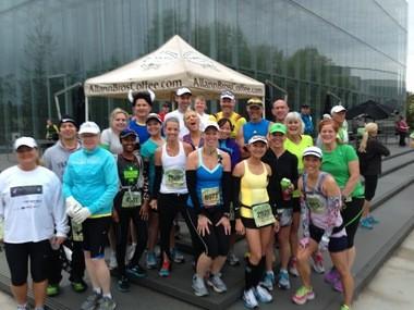 Coach Jim's crew at the 2013 Eugene Marathon.