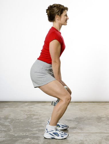 """A great starting exercise for spinal arthritis is a """"safe squat."""" (Photo By Ty Downing)"""