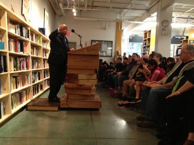 """U.S. Rep. John Lewis brought his glorious voice and his graphic novel, """"March,"""" to Powell's Books Saturday."""