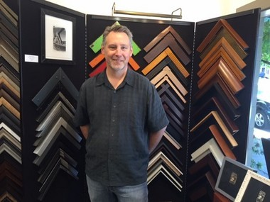 Todd Putnam, the owner of Framing Resource on Southeast Stark