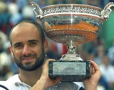 At 29, Andre Agassi resurrected his career at the French Open.
