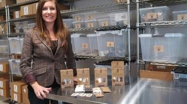 Taya Geiger, Scratch and Grain CEO, in their Tigard facility where they package their organic cookie kits.