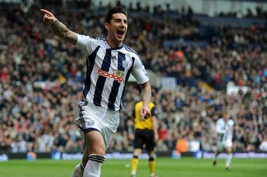 Defender Liam Ridgewell celebrates scoring a goal for West Brom. After 11 seasons in England and unable to secure a contract, Ridgewell has signed with the Portland Timbers to add more reinforcements to their defense. With recent trades and injuries, Ridgewell will likely be appearing for the club as soon as possible once his international paperwork is approved.
