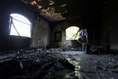The inside of the U.S. Consulate in Benghazi, Libya, is shown after an attack that killed four Americans, including Ambassador Chris Stevens in September 2012.