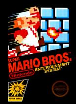 The box art for the North American version of 'Super Mario Bros.'