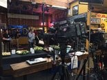 It's early, but the TV crews have arrived at Blitz Ladd in Southeast Portland for the Ted Wheeler election watch party.