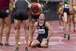 Dathan Ritzenhein reacts to making the 2012 U.S. Olympic team.