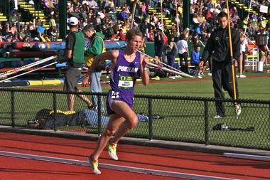 The University of Portland's Jared Bassett is a scoring threat in the NCAA steeplechase.