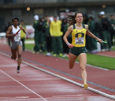 Anne Kesselring will help lead the Ducks in this week's NCAA Track & Field Championships.