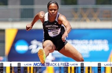 Portland State's Joenisha Vinson broke her school record in the NCAA heptathlon
