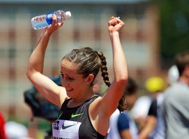 Shannon Rowbury of the Nike Oregon Project set the U.S. two-mile record at the Pre Classic.