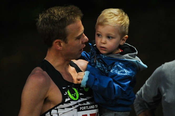 Galen Rupp's family was there to watch him Saturday night at the Portland Track Festival.