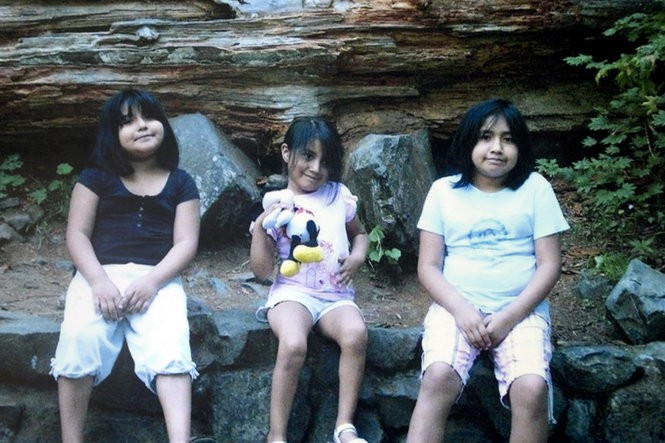 Jay (right) had been depressed since he was 4. In photos, he grimaced while his sisters Maria (left) and Angie (center) smiled. (Family photo)