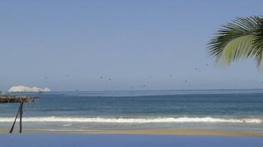 The view at Playa Blanca, Mexico.