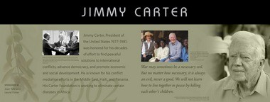 Plaques will look like this one for Jimmy Carter.