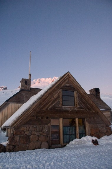 Silcox Hut, built in 1939 and restored 20 years ago, perches about 1,000 feet in elevation above Timberline Lodge.