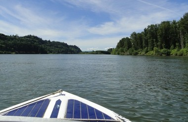 A boat is a perfect way to see the natural beauty of the Columbia River.