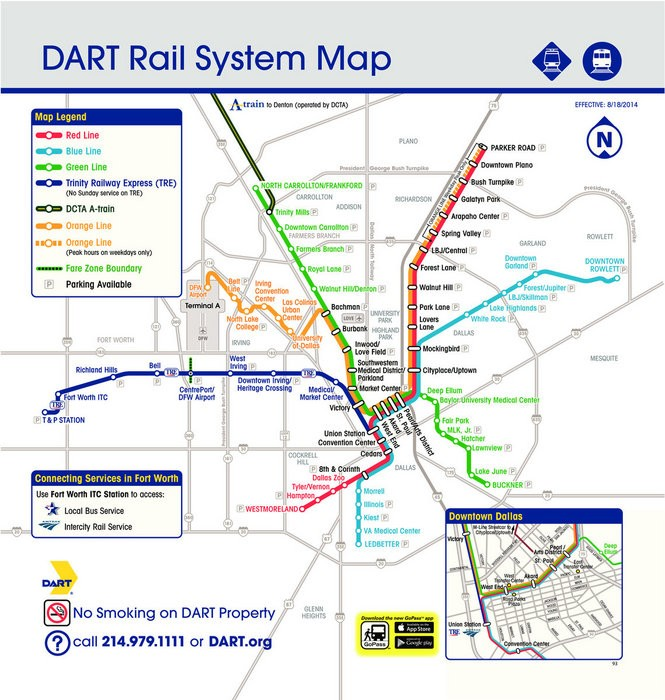 Train transit maps for Western U S , Canadian cities (maps