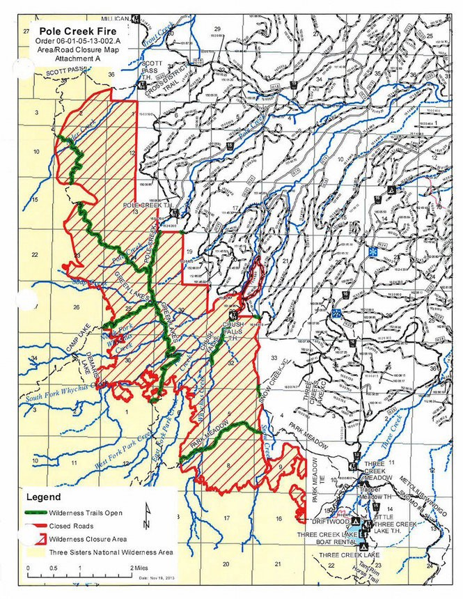 The restricted access area of the Pole Creek fire south of Sisters, three years after the burn.