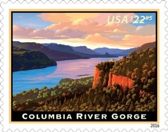 The 2016 Columbia River Gorge postage stamp.