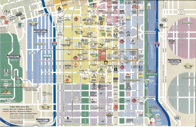 Map Of Downtown Portland Hotels on